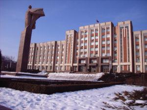 Lenin statue in Transnistria