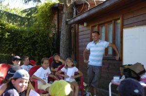 an English language summer camp outside Madrid