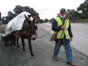 a fellow pilgrim on the Camino de Santiago