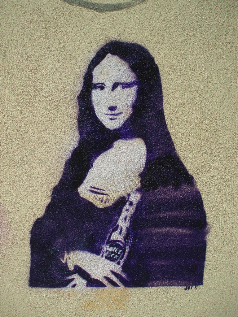 grafitti porto portugal mona lisa