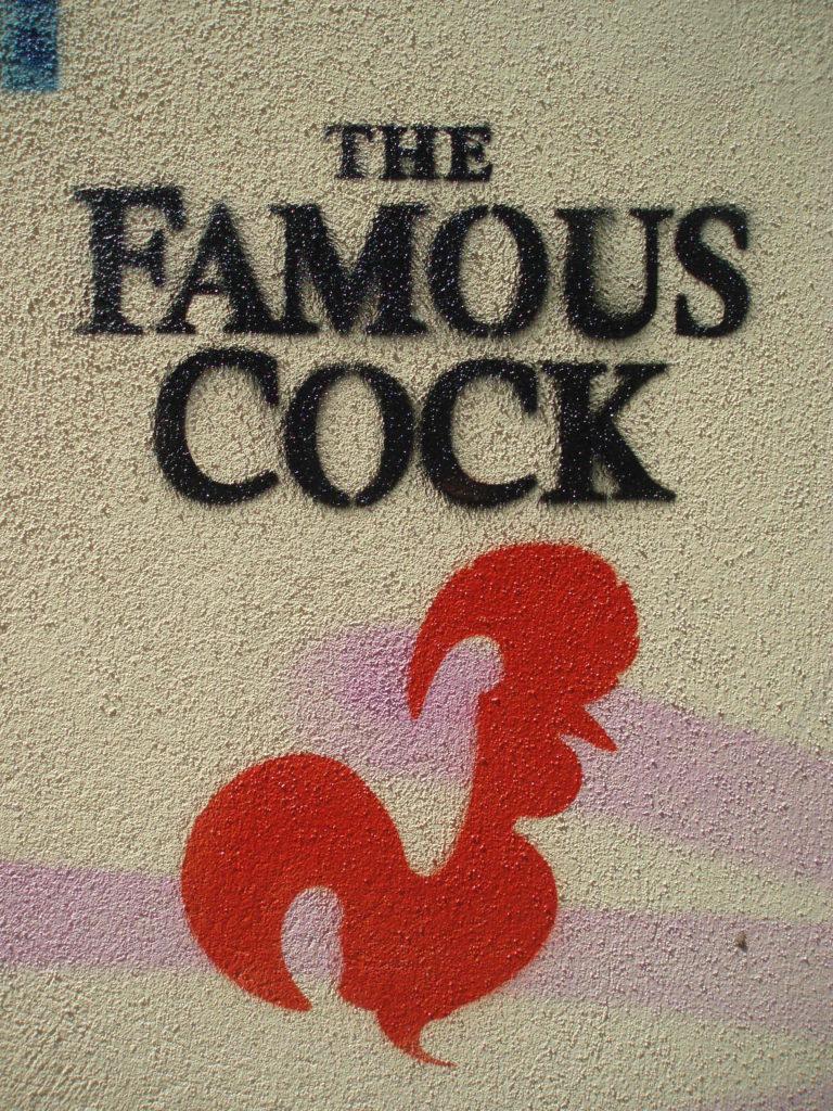 Famous Cock grafitti street art porto portugal