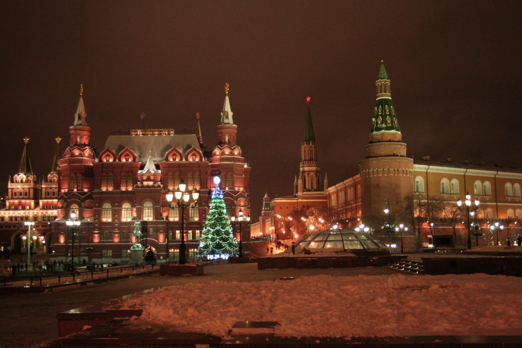 moscow christmas russia new year