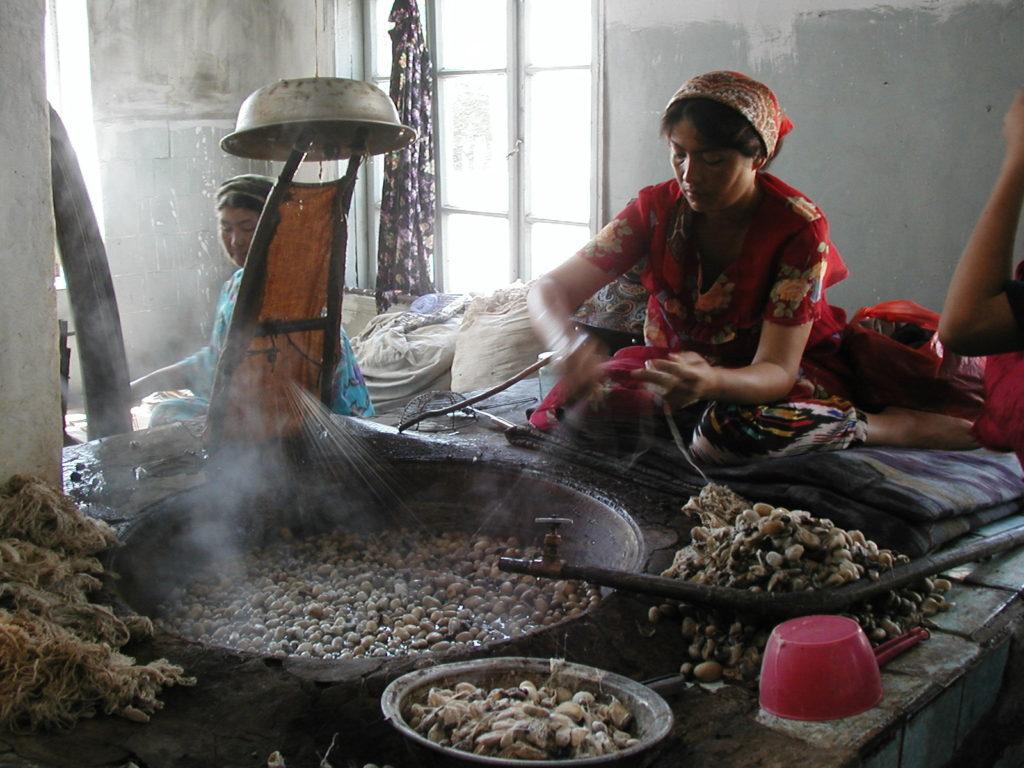 margilan silk factory uzbekistan fergana
