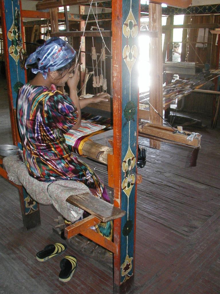 margilan silk weaver uzbekistan