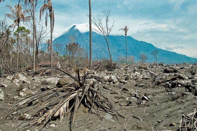 volcano destruction