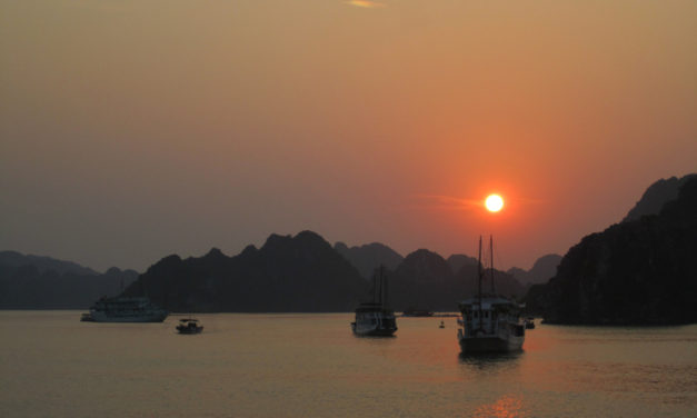 Photo of the Week: Halong Bay Sunset