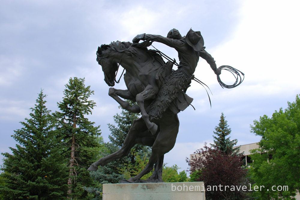 state capitol building statue Cheyenne