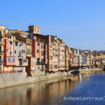 Girona Spain colorful building along the River