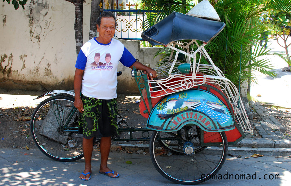 Photo of the Week: Indonesia Cycle Rickshaw and Driver