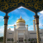 Brunei Mosque Framed