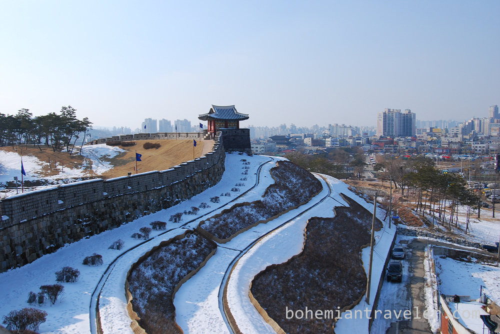 The walls of Suwon Hwaseong Fortress