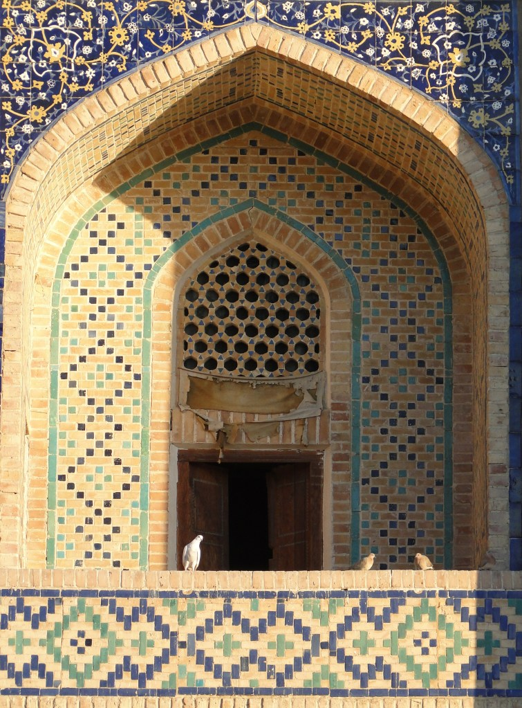 Most of the historic buildings of Bukhara feature the blue tile work so common in Timurid architecture throughout Central Asia.