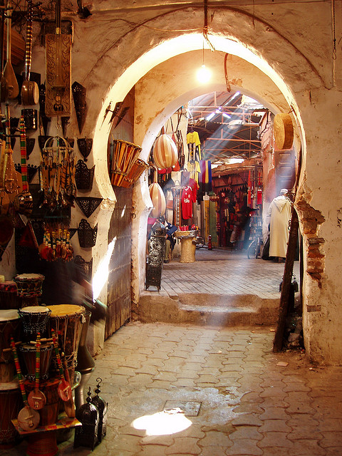 A traditional Souk in Marrakech. Photo by damiandude from Flickr