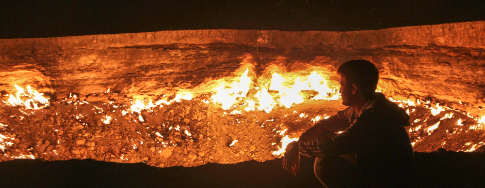 Turkmenistan Darzava Gas Crater Gates of Hell