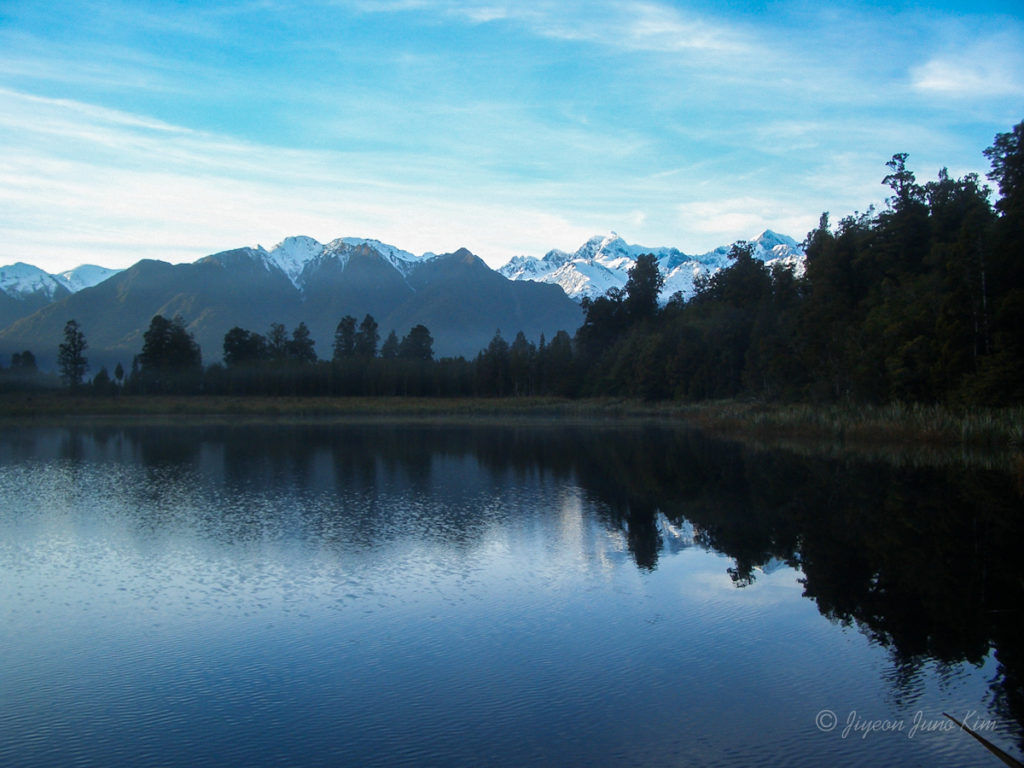 Lake Matheson Southern Alps New Zealand