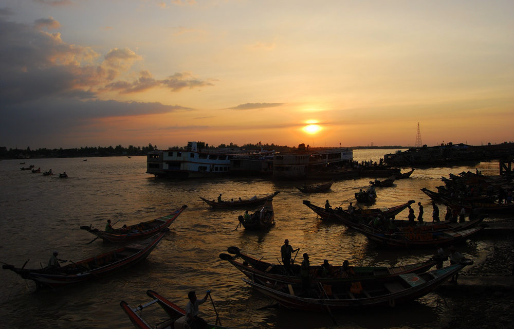 Photo of the Week: Yangon River Sunset