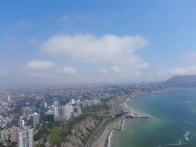 Paragliding above Lima.