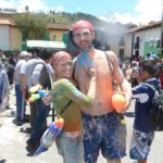 Charlie and Danielle at Carnival in Cajamarca