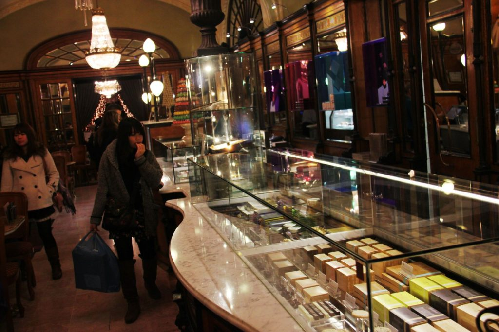 Cafe Gerbeaud, a world-class bakery adorned in chandeliers and glass cabinets, charges up to $12 per slice of cake.
