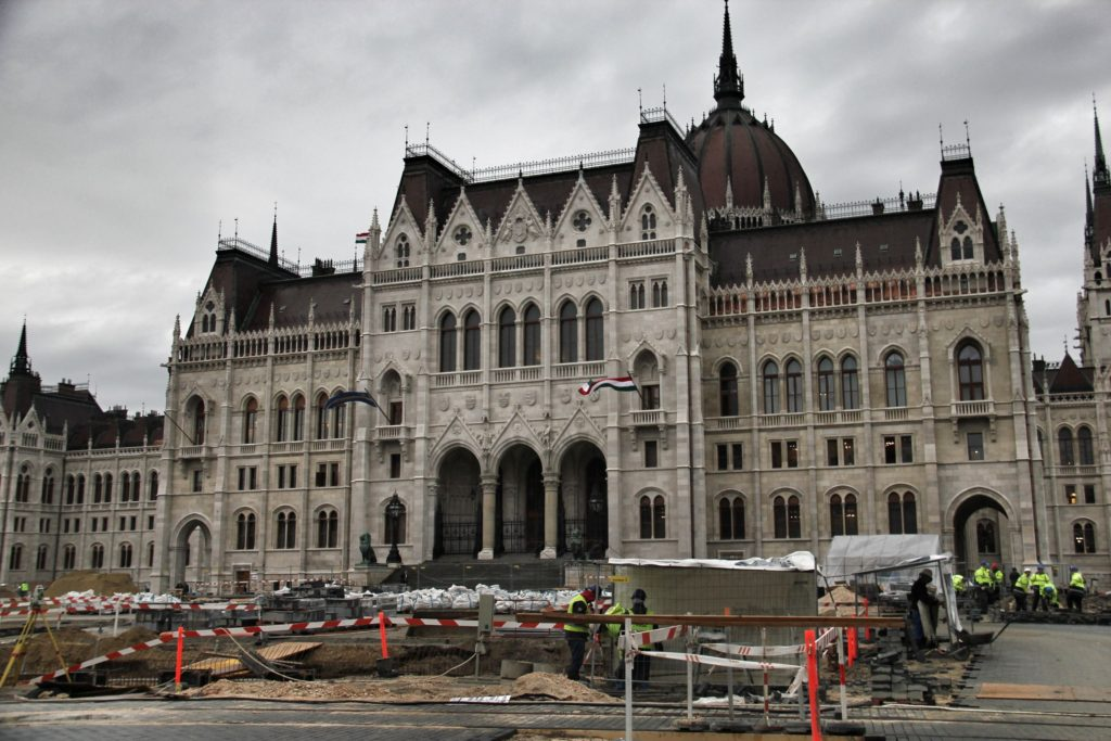 Budapest's gothic parliament is always under construction.