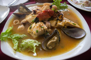 Parihuela is a spicy seafood stew similar to the French bouillabaisse but with more intense flavors.