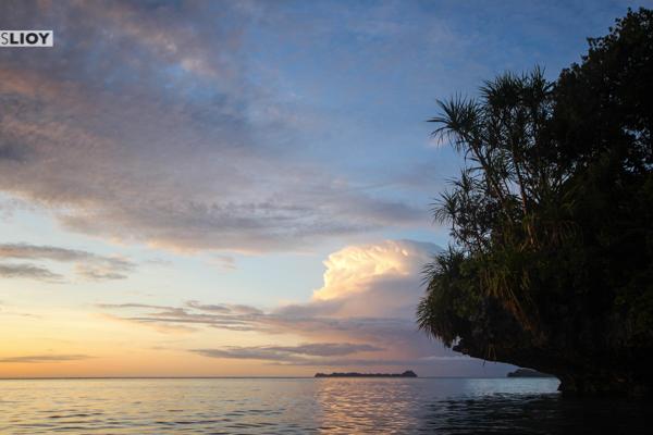 palau rock islands sunset