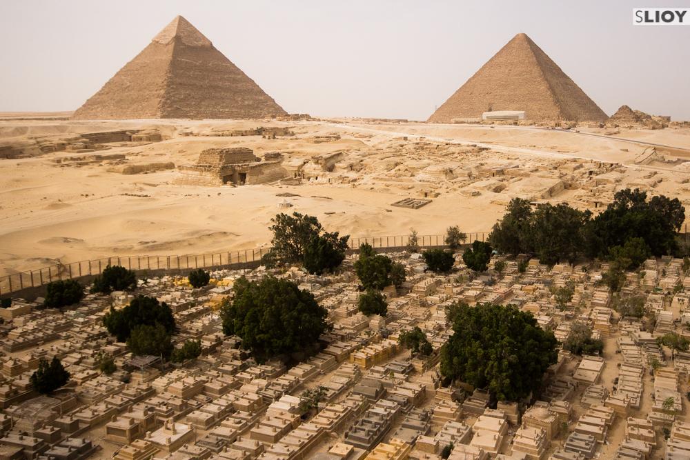 pyramids and cemetery