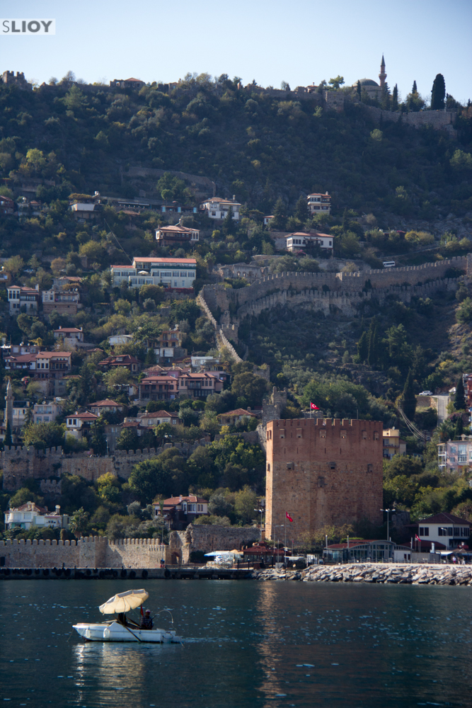 alanya harbor and castle