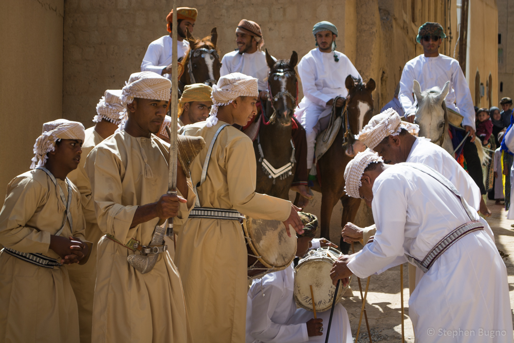 Omani Sword Fight in Al Hamra