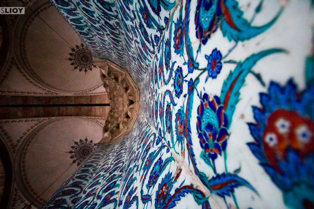 Tilework at Rustem Pasha Mosque in Istanbul