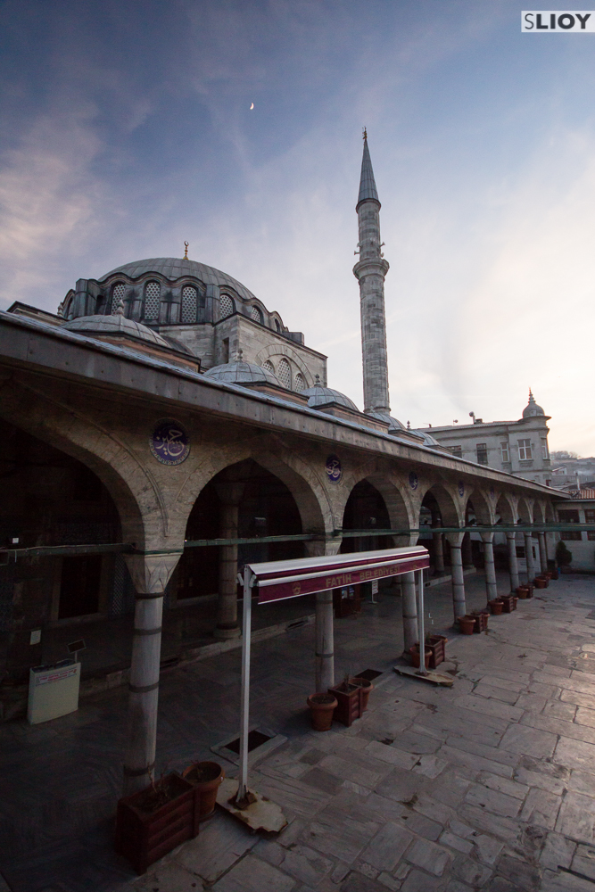 Courtyard of Rustem Pasha Mosque in Istanbul.