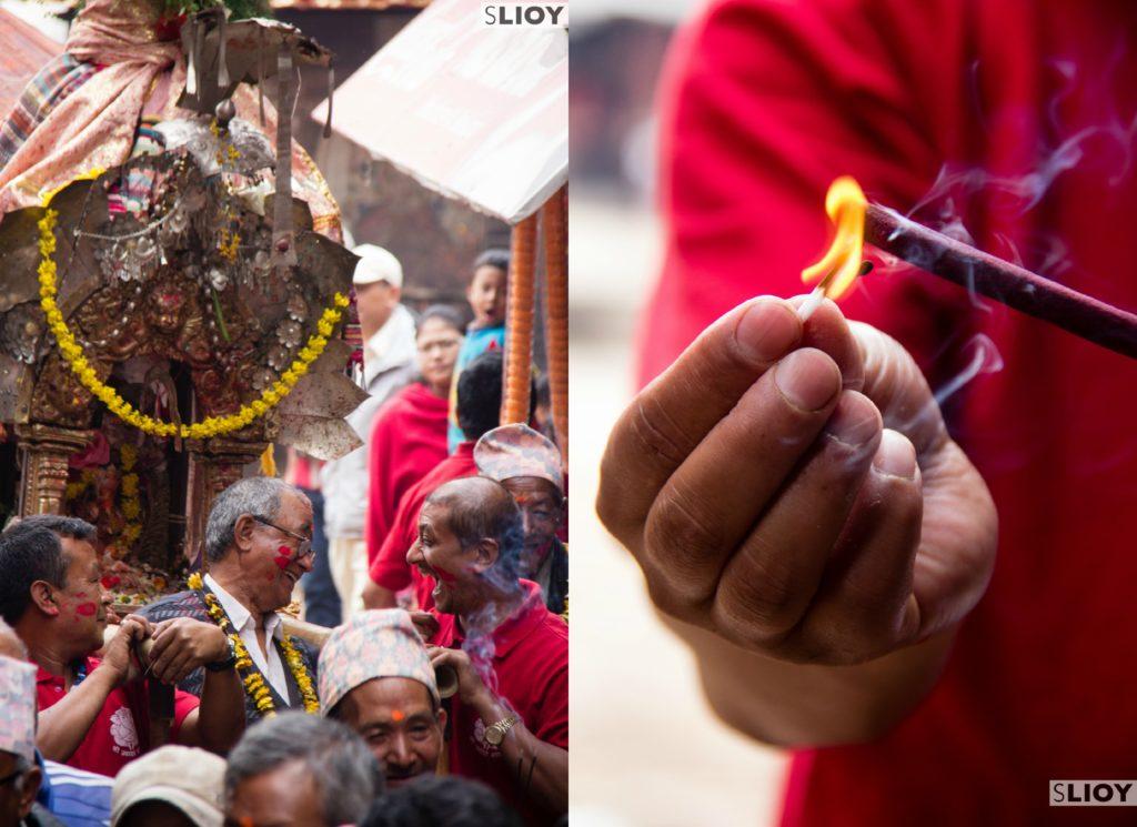 Bisket Jatra Religious Procession Bhatapur Nepal
