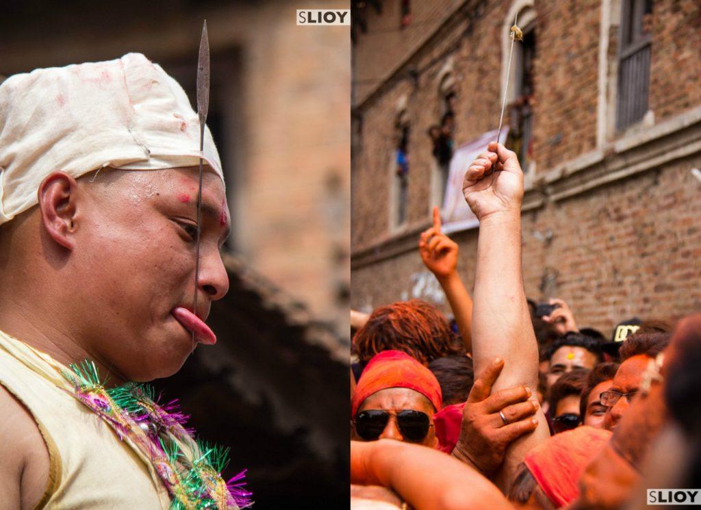 Bisket Jatra Tongue Piercing Nepal