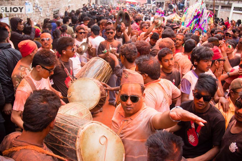 Bisket Jatra Festival in Bhakpatur, Nepal