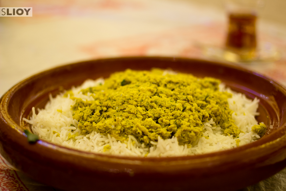 Qsheed - a traditional Emirati food made of baby shark and local spices.