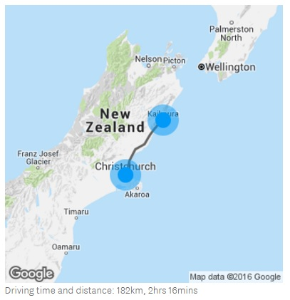New Zealand Touring Route