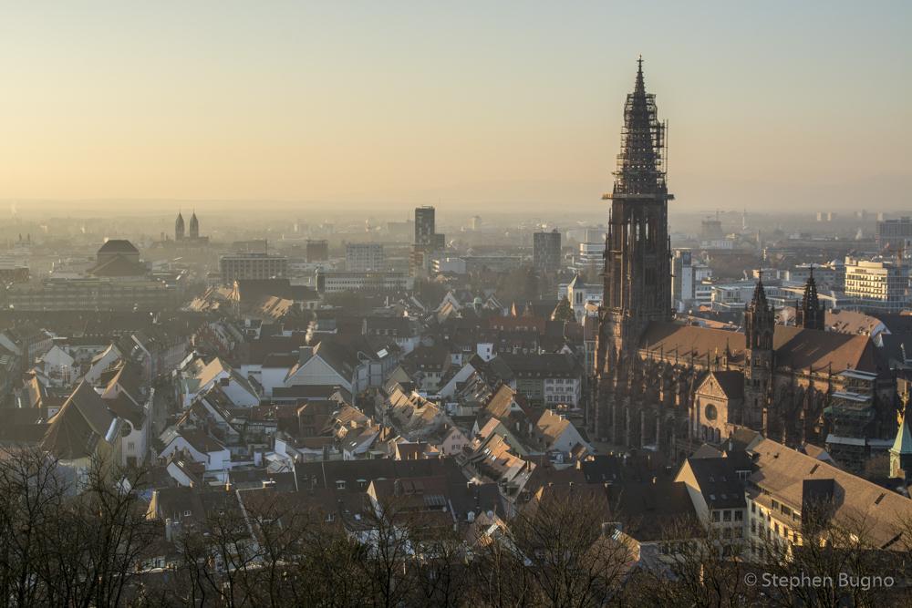 Sunset over Freiburg Germany