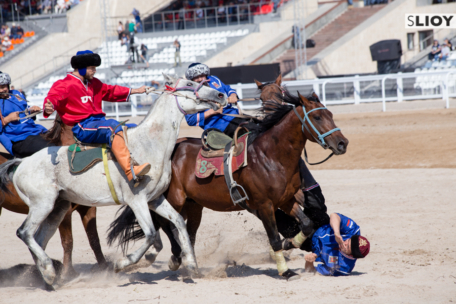 US versus Russia Kok Boru at the World Nomad Games in Kyrgyzstan