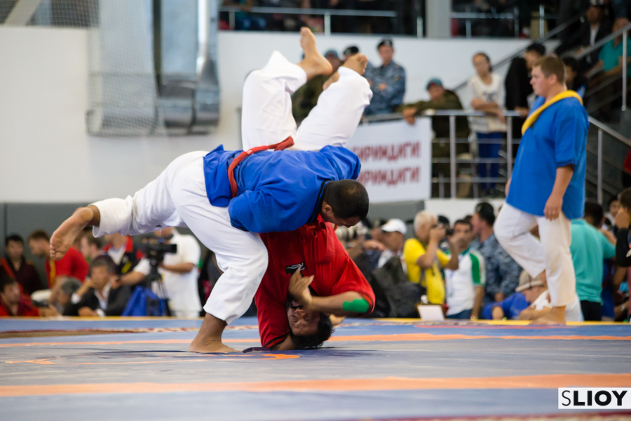 Alysh wrestling at the World Nomad Games 2016 in Kyrgyzstan.