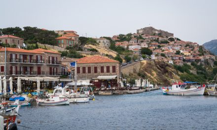 Molyvos Harbor of Lesvos, Greece