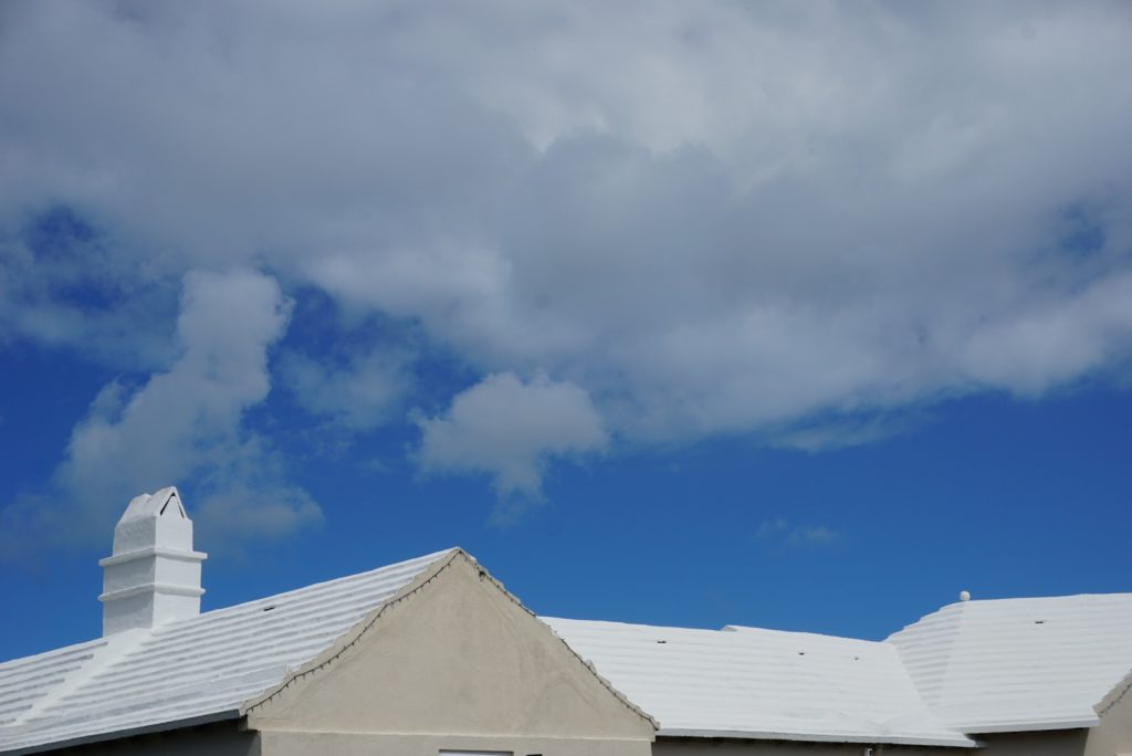 white Bermuda roof under blue sky