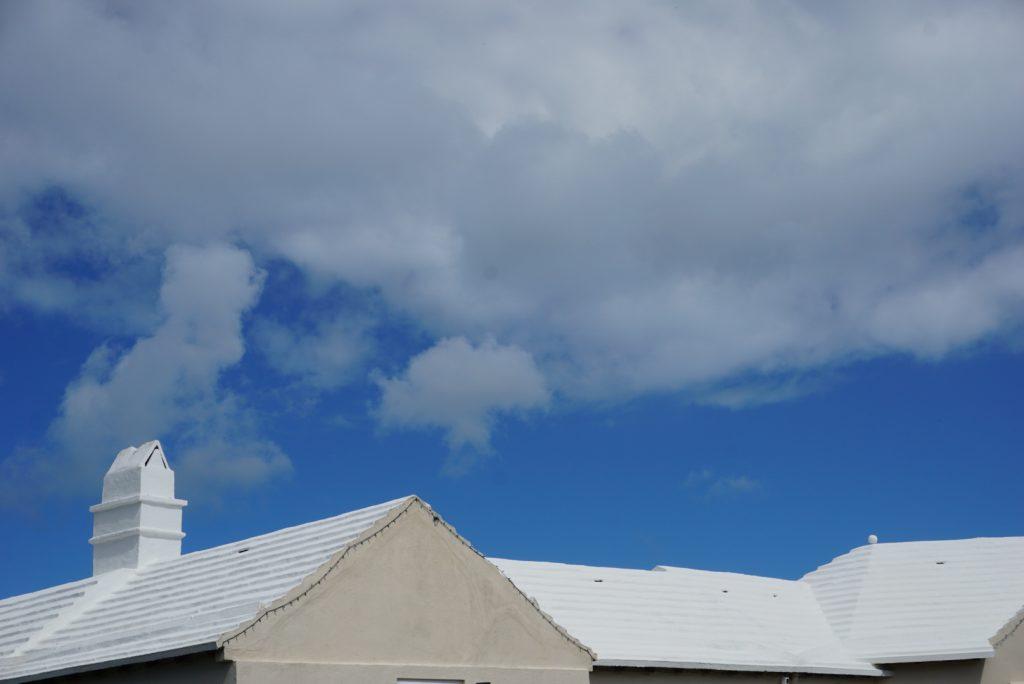 white Bermuda roof under blue sky