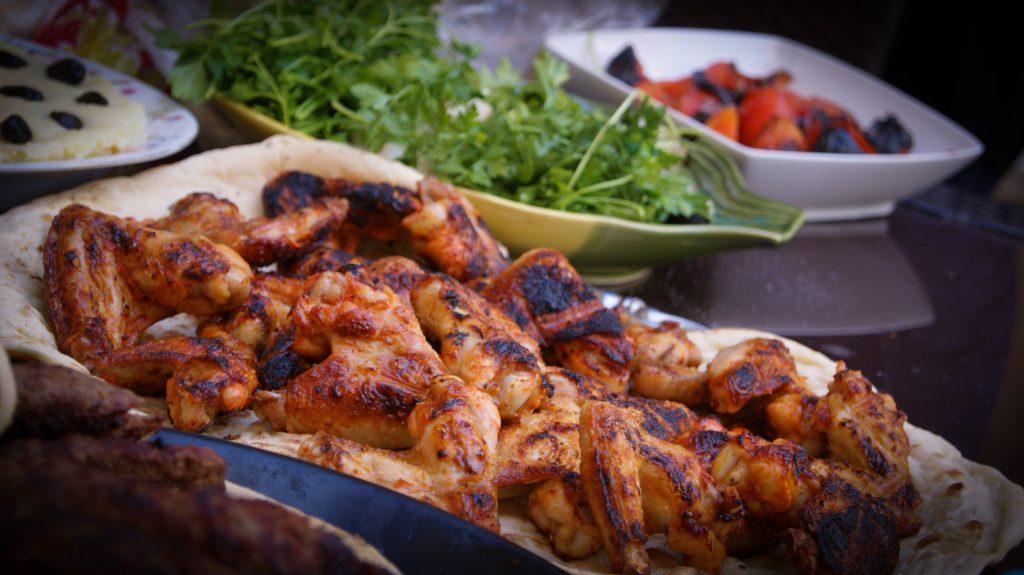 bbq chicken wing platter