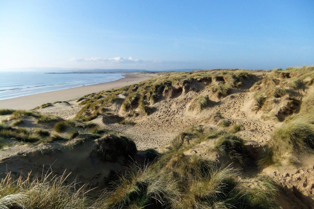 sand dunes Camber Sands beach England