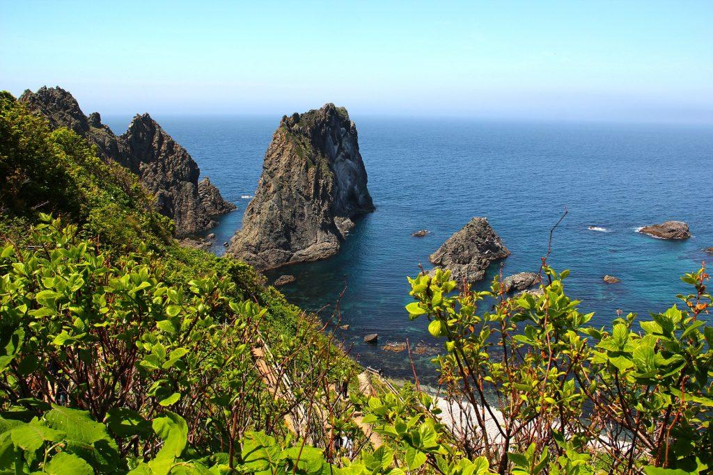 """alt=""""The seaside in Hokkaido, Japan"""""""